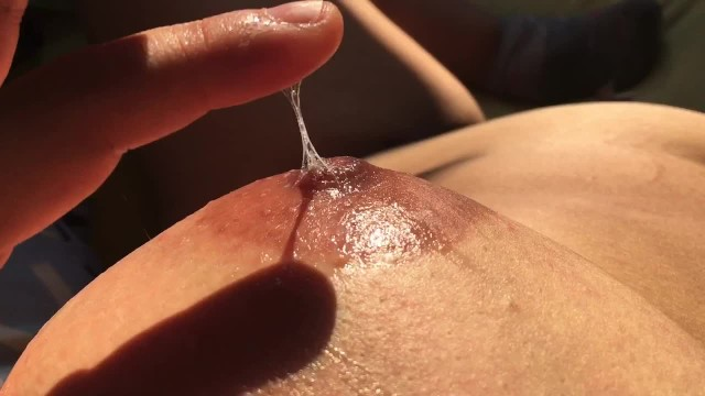 Female vaginal fluid Massaging my boobs with my own vaginal fluids - nipple playing