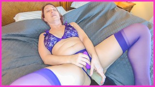 Clip STELLA'S SELF PLEASURE E01: Crotchless Lingerie, Clit Sucker, Huge Dildo