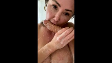 BUSTY MILF KIANNA DIOR SOAPY SHOWER AT HOME