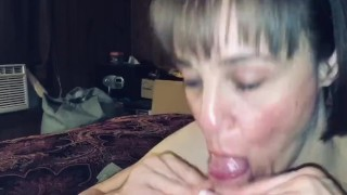 He filled my mouth and throat full of cum! Almost lost it
