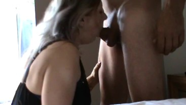 Brilliant blowjob before she swallows it all