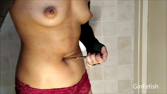 Stab vagina knife Belly stab, belly knife play short version