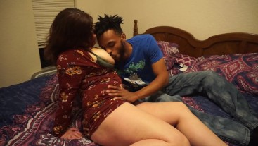 Young Black Stud Fucks Slutty White Milf While Husband Films