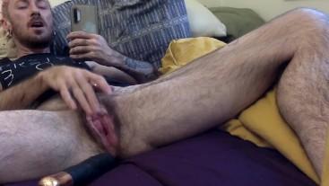 trans gay fucks hole,big load, trans dick