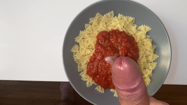 Eat my dick Im eating pasta with the sperm of my man inside it and its soooo good