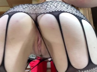 4k naked twerking fat ass redhead in fishnet stockings preview