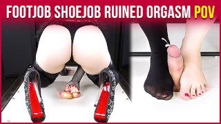 CockBox Handjob Torture & High Heels Footjob with Ruined Orgasm | Era