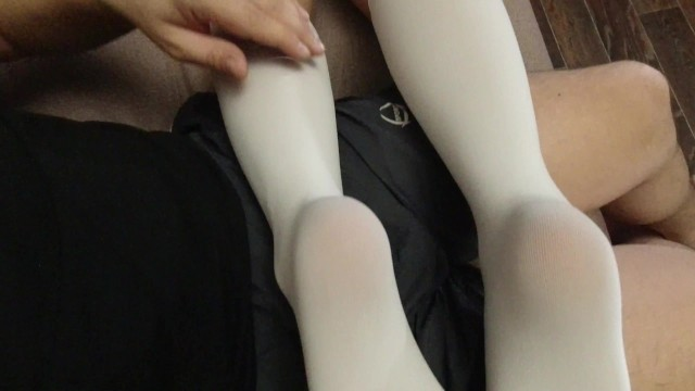 Sexy uniform photo Sexy soles feet fetish girl in schoolgirl uniform white knee socks