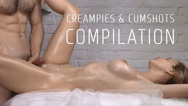 Oiled up nude blonde movie stars - Compilation of creampies and cumshots vol. 4