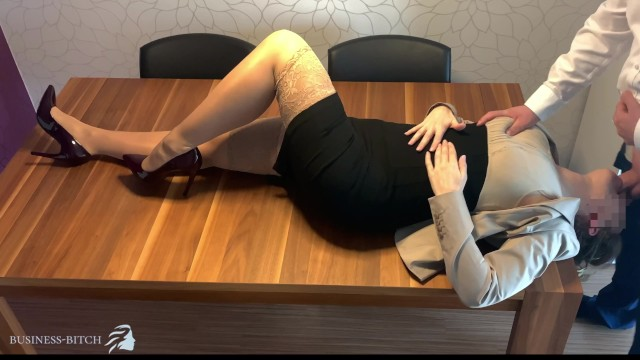 Personal assistant boss breasts spread legs - Sexy personal assistant used for face fuck and deepthroat