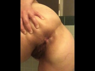 Spreading my ass open in shower