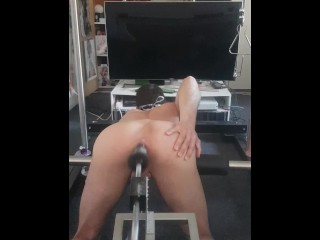 Having fun with a really hard and snappy crazy anus fuckingmachine pounding