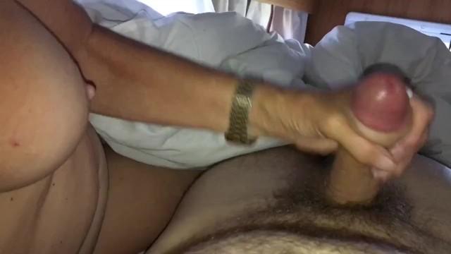 Scottish milf - Girlfriend mom wanking me