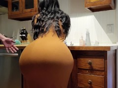 Help! Step Son I'm Stuck In The Kitchen Sink! Please Don't Fuck My Big Ass!