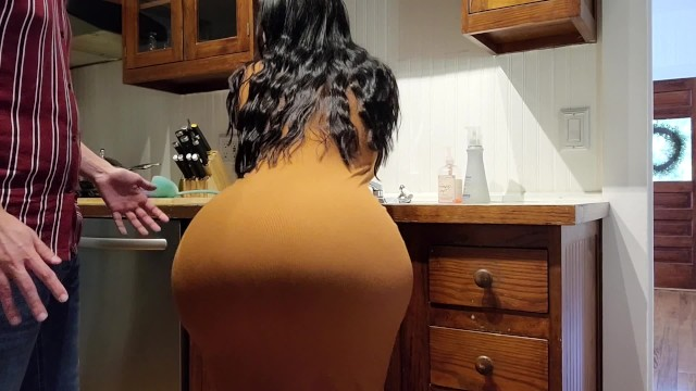 Fucking married girls in kitchen - Help step son im stuck in the kitchen sink please dont fuck my big ass