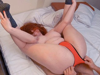 Curvy redhead/cum panties/big panties redhead amateur milf