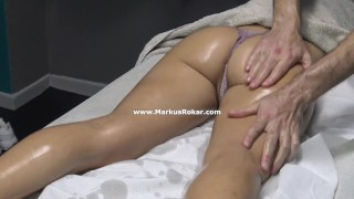 Please Don't Play my Pussy! Milf Didn't Let Masseur to Play with her Pussy!