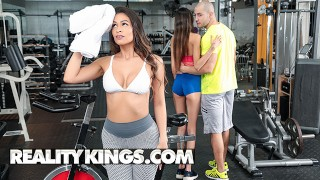 RealityKings - Sexy brunette Katana Kombat wants dick more than working out