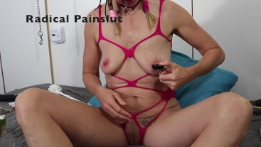 50 Ways of Torturing Nipples part 4: Weights, Tabasco & Squirting from Pain