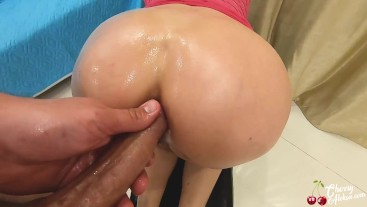 Housewife Oil Masturbate Vibrator and had Anal Sex - Ass to Mouth