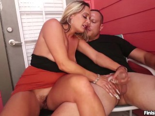 """Let me See You SPURT!"" Balcony Rub n Tug"
