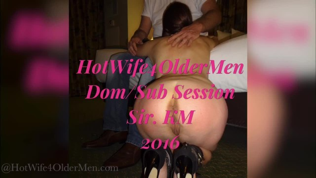 Young slut spanks mature woman - Submissive hotwife spank flogged by older man cuckold husband films -2016