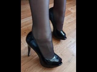 Heels fetisch/kink/fetisch stocking peeptoes pov heels