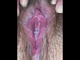 Young Latina Hairy Wet Pussy