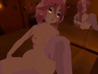 VRCHAT FULLBODY GIRL BEING AWKWARD UNTIL SHE CUMS (custom video for Tom)
