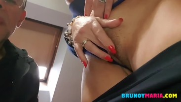 This is how I fuck her for all of you and I cum in her panties ... WATCH IT