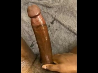 10 inch BBC Daddy Moaning and Stroking