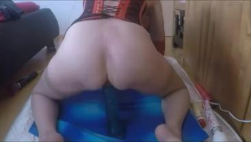Big Dldo ride Zicken Pussy mega squirt Orgasmus
