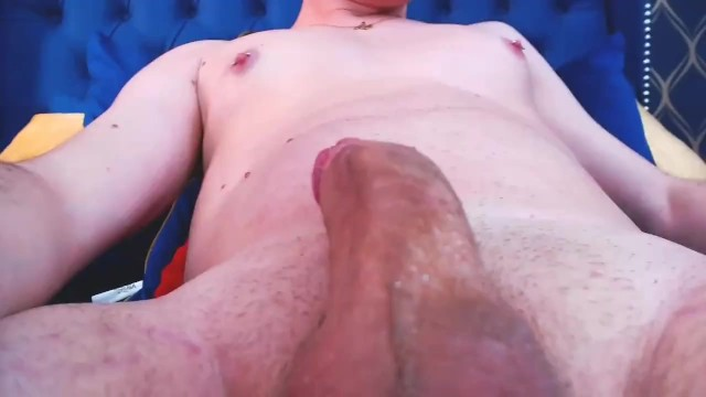 Gay males cum feast - A boy with pierced nipples inserted an ohmebot in his ass