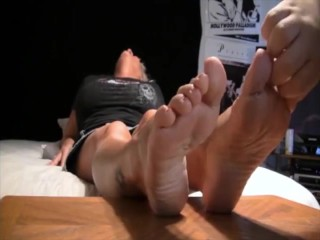 Mature April Turned On By Foot Tickling