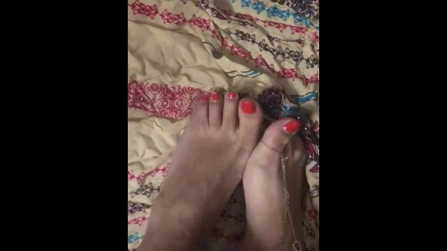 Sexy indian feet - Sexy indian feet with foot jewelry and painted toes