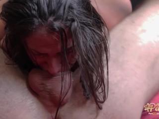 Fucking hard my handcuffed slave. 69 throbbing oral creampie