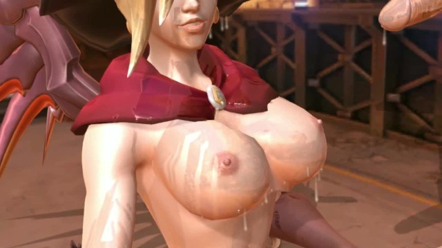 Girls drinking dog cum - Succubus mercy suck a man to death and drink cum to grow her boobs