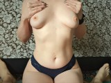 Young PAWG in Glasses: Blowjob and Reverse Cowgirl Fuck