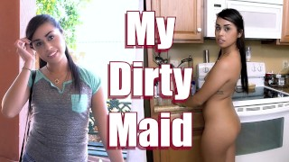 BANGBROS – Petite Maid Eva Saldana Sucks & Fucks For Extra Dinero