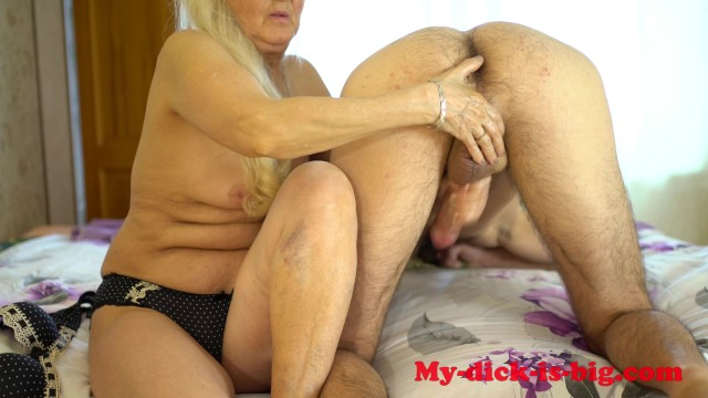 Young taboo fucking - Grandma milks cock step grandson. 70 year old granny. my-dick-is-big 4k