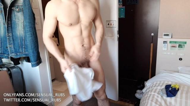 Gay man kiss Riding a muscular japanese mans cock bareback