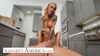 Naughty America - Sarah Jessie fucks son's friend who is back from college