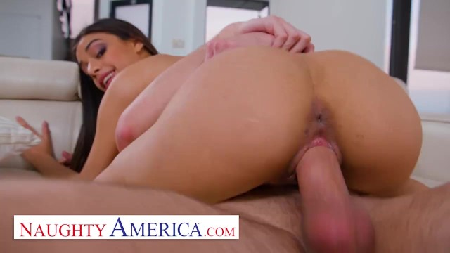 Hot brunette getting anal - Naughty america - horny dad gets lucky with daughters friend