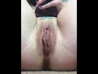 Closeup pussy squirting cum,smoking