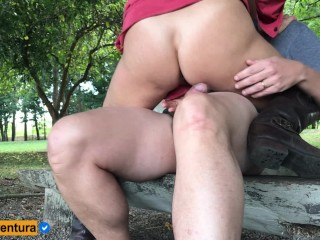 We come back! Real Amateur Public Sex on the Park!!! People walking near…