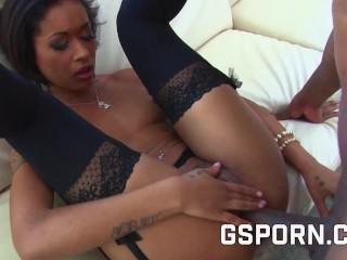 Roasting hot petite ebony whore pounded by large ebony girl shaft in her house, YouPeg