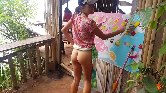Midget bar angeles city Public flashing at view point clif bar no panties among people