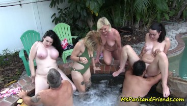 Hot Tub Orgy at the Neighbor's House