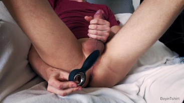 Prostate massage with anal plug