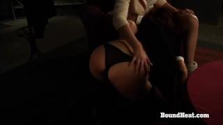 Filmes pornôs grátis - Bound Heat Carga Traída: Surra Para Uma Escrava Lésbica Nua Pela Senhora Dominante